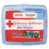 Johnson & Johnson® Red Cross® Portable Travel First Aid Kit, 70-Pieces, Plastic Case - 8274
