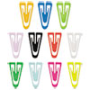 "Paper Clips, Plastic, Medium (1""), Assorted Colors, 500/Box"