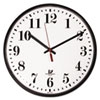 "Chicago Lighthouse Quartz Slimline Clock with Protective Cover, 12-3/4"", Black ILC67300402"