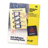 Avery® Clear Self-Adhesive Laminating Sheets, 3 mil, 9 x 12, 10/Pack AVE73603