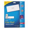 Avery® Easy Peel Mailing Address Labels, Laser, 1 x 4, White, 500/Pack AVE5261