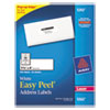 Avery® Easy Peel Mailing Address Labels, Laser, 1 1/3 x 4, White, 350/Pack AVE5262