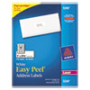 Avery® Easy Peel Mailing Address Labels, Laser, 1 x 2 5/8, White, 750/Pack AVE5260