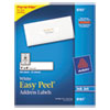 Avery® Easy Peel Mailing Address Labels, Inkjet, 1 x 4, White, 500/Pack AVE8161