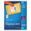 Avery® Shipping Labels with TrueBlock Technology, Inkjet, 3 1/3 x 4, White, 150/Pack AVE8164