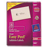 Avery® Clear Easy Peel Address Labels, Laser, 1 x 4, 1000/Box AVE5661