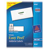 Avery® Easy Peel Mailing Address Labels, Inkjet, 1 1/3 x 4, White, 350/Pack AVE8162