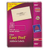 Avery® Clear Easy Peel Address Labels, Laser, 1 1/3 x 4, 700/Box AVE5662
