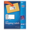 Avery® Shipping Labels with TrueBlock Technology, Inkjet, 2 x 4, White, 250/Pack AVE8163