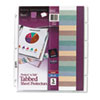 Avery® Protect 'n Tab Top-Load Clear Sheet Protectors w/Five Tabs, Letter AVE74160