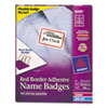 Avery® Flexible Self-Adhesive Laser/Inkjet Name Badge Labels, 2 1/3 x 3 3/8, RD, 400/BX AVE5095