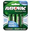 Rayovac® Recharge Plus NiMH Batteries, AA, 4/Pack RAYPL7154B