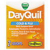Severe Cold & Flu Caplets, Daytime, Refill Pack, 2 Caplets/Packet, 20 Packs/Box