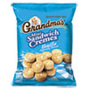 NON-RETURNABLE. Mini Vanilla Creme Sandwich Cookies, 3.71 Oz, 24/carton