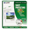 "C-Line® Sheet Protectors, Heavy, Clear, Polypropylene, 2"", 11 x 8 1/2, 50/BX CLI62607"