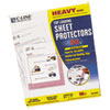 "C-Line® Heavyweight Polypropylene Sheet Protector, Clear, 2"", 11 x 8 1/2, 50/BX CLI62013"