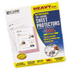 """C-Line® Hvywt Poly Sht Protector, Clear, Top-Loading, 2"""", 11 x 8 1/2, 100/BX CLI62033"""