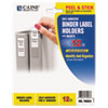 Self-Adhesive Ring Binder Label Holders, Top Load, 2 5/16 x 3 1/16, Clear, 12/PK