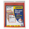 "C-Line® Stitched Shop Ticket Holder, Neon, Assorted 5 Colors, 75"", 9 x 12, 10/PK CLI43920"