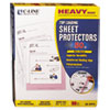 "C-Line® Heavyweight Polypropylene Sheet Protector, Non-Glare, 2"", 11 x 8 1/2, 50/BX CLI62018"