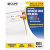 C-Line® Self-Adhesive Business Card Holders, Side Load, 3 1/2 x 2, Clear, 10/Pack CLI70238