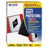C-Line® Traditional Polypropylene Sheet Protector, Heavyweight, 11 x 8 1/2, 50/BX CLI00010