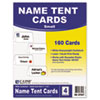C-Line® Scored Tent Cards, White Cardstock, 3 1/2 x 2, 4/sheet, 40 sheets/BX CLI87527