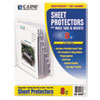 """C-Line® Sheet Protectors with Index Tabs, Clear Tabs, 2"""", 11 x 8 1/2, 8/ST CLI05587"""