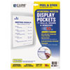"C-Line® Display Pockets, 8 1/2"" x 11"", Polypropylene, 10/Pack CLI36911"