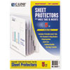 "C-Line® Sheet Protectors with Index Tabs, Heavy, Clear Tabs, 2"", 11 x 8 1/2, 5/ST CLI05557"