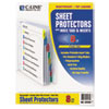 """C-Line® Sheet Protectors with Index Tabs, Assorted Color Tabs, 2"""", 11 x 8 1/2, 8/ST CLI05580"""