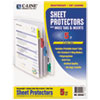 """C-Line® Sheet Protectors with Index Tabs, Assorted Color Tabs, 2"""", 11 x 8 1/2, 5/ST CLI05550"""