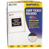 "C-Line® Clear Vinyl Shop Ticket Holder, Both Sides Clear, 50"", 9 x 12, 50/BX CLI80912"