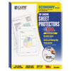 """C-Line® Economy Weight Poly Sheet Protector, Reduced Glare, 2"""", 11 x 8 1/2, 100/BX CLI62017"""