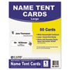 C-Line® Printer-Ready Name Tent Cards, 11 x 4 1/4, White Cardstock, 50 Letter Sheets/Box CLI87517