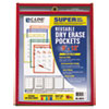 C-Line® Reusable Dry Erase Pockets, 9 x 12, Assorted Primary Colors, 10/Pack CLI40610