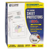 "C-Line® Economy Weight Poly Sheet Protector, Reduced Glare, 2"", 11 x 8 1/2, 200/BX CLI62067"