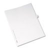 Avery® Allstate-Style Legal Exhibit Side Tab Divider, Title: 40, Letter, White, 25/Pack AVE82238