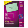 Avery® Clear Easy Peel Shipping Labels, Laser, 2 x 4, 100/Pack AVE15663