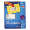 Avery® Shipping Labels with TrueBlock Technology, Inkjet, 2 x 4, White, 500/Box AVE8363