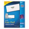 Avery® Easy Peel Mailing Address Labels, Inkjet, 1 1/3 x 4, White, 1400/Box AVE8462