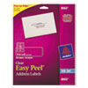 Avery® Clear Easy Peel Address Labels, Inkjet, 1 1/3 x 4, 350/Pack AVE8662