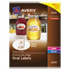 Avery® Oval Print-to-the-Edge Labels, 2 x 3 1/3, Glossy White, 80/Pack AVE22820