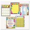 "Learning Chart Combo Packs, Classroom Basics - Sock Monkeys, 17"" x 22"""