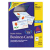 Avery® Printable Microperf Business Cards, Inkjet, 2 x 3 1/2, White, Matte, 250/Pack AVE8371