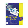 Avery® Print-to-the-Edge Microperf Business Cards, Inkjet, 2x3 1/2, Wht, Gloss, 200/BX AVE8373