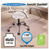 "ES Robbins® 45x53 Lip Chair Mat, Multi-Task Series AnchorBar for Carpet up to 3/8"" - 128173"
