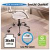 """ES Robbins® 36x48 Lip Chair Mat, Multi-Task Series AnchorBar for Carpet up to 3/8"""" ESR128073"""