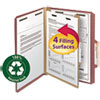 <strong>Smead®</strong><br />100% Recycled Pressboard Classification Folders, 1 Divider, Letter Size, Red, 10/Box