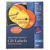 <strong>Avery®</strong><br />Inkjet Full-Face CD Labels, Matte White, 40/Pack